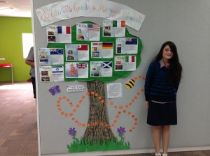 Aubrie and her Cultural Heritage Tree
