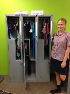 Petra and her explore the locker to find my identity exhibition