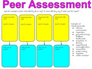 Peer Assessment Interpersonal Skills