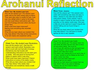 Copy of Copy of Arohanui Reflection