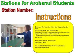 Copy of Stations For Arohanui Students