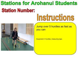 Hurdles - Stations For Arohanui Students