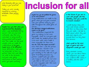 Inclusion for all