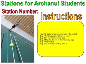 (Katherine and Rebecca) Stations For Arohanui Students