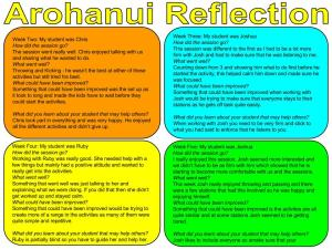 Petra - Arohanui Reflection